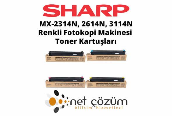 Sharp MX-2314N, 2614N, 3114N, Renkli Fotokopi Makinesi Toneri